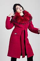 Шикарное женское зимнее пальто с капюшоном рр 50