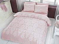 Двуспальное евро постельное белье TAC Esther Pudra Сатин