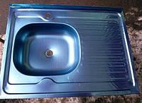 Кухонная накладная мойка Asil (0,4мм) 60х80см.