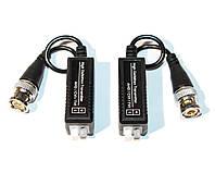 Пассивный приемопередатчик видеосигнала по витой паре AHD/CVI/TVI  дальность 720P - 600метров, под зажим без болтов
