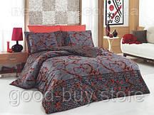 Комплект постельного белья Nazenin avantgarde kirmizi - satin