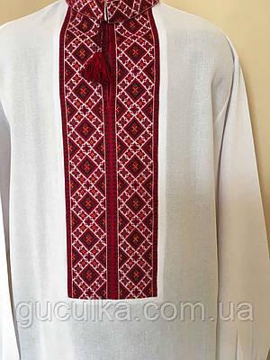 Біла вишита сорочка з червоним орнаментом 52 розмір  продажа 1200a6bf094f0