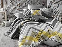 Комплект постельного белья Nazenin KERRY GRI - ранфорс