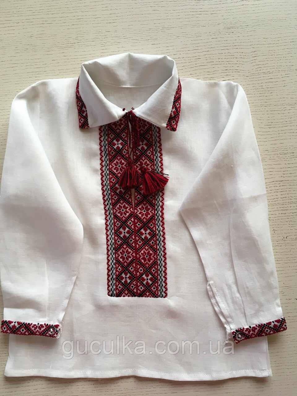 Біла вишиванка для хлопчика ручної роботи на 1-2 роки - Інтернет-магазин