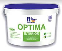 Глубокоматовая латексная краска для потолка и стен OPTIMA INTERIOR  10 л
