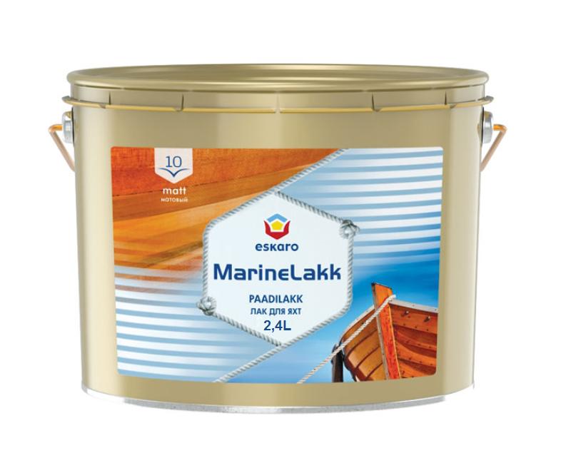 Лак алкид-уретановый ESKARO MARINE LAKK 10 TIX  яхтовый 2.4л