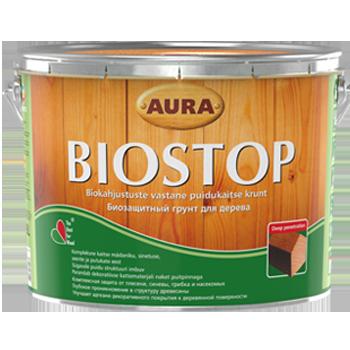Грунтовка антисептическая Aura Biostop для древесины 2,7л