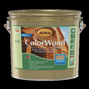 Декоративно-защитное средство для древесины Aura ColorWood Aqua (бесцветный) 2,7л