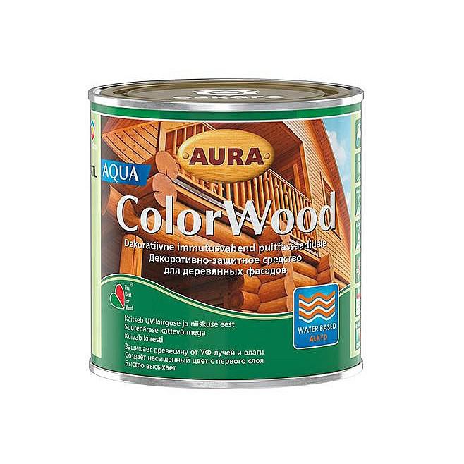 Декоративно-защитное средство для древесины Aura ColorWood Aqua (дуб) 0,7л
