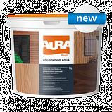 Декоративно-защитное средство для древесины Aura ColorWood Aqua (белый) 9л, фото 2