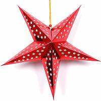 Новогодняя объемная звезда из картона