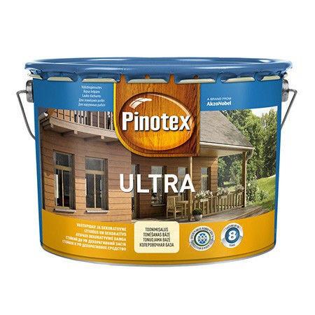 Пропитка для дерева с лаком PINOTEX ULTRA (Пинотекс Ультра) Тиковое дерево 10л
