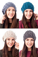 Женская шапка крупной вязки №3109