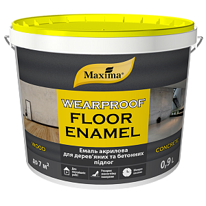 """Эмаль акриловая для деревянных и бетонных полов TM """"Maxima"""" (Жёлто - коричневая RAL 8012) 3 л"""
