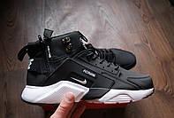 Зимние мужские кроссовки Nike Air Huarache Winter Black/White