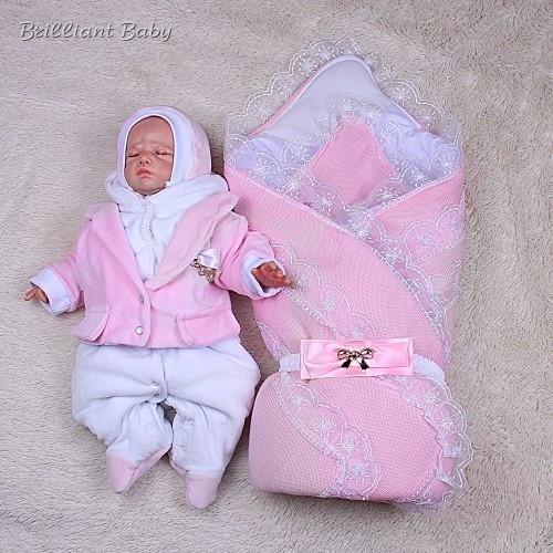 Зимний набор на выписку Шарлота+Little Beauty (розовый)