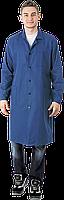 Халат мужской синий рабочий (ткань диагональ)