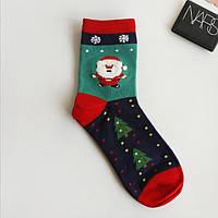 Носки с новогодним рисунком для взрослых и подростков, фото 1