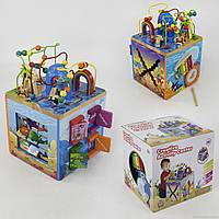 Куб логический Е 21386 деревянный