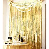 Шторка - занавес из фольги для фото зон, золотая