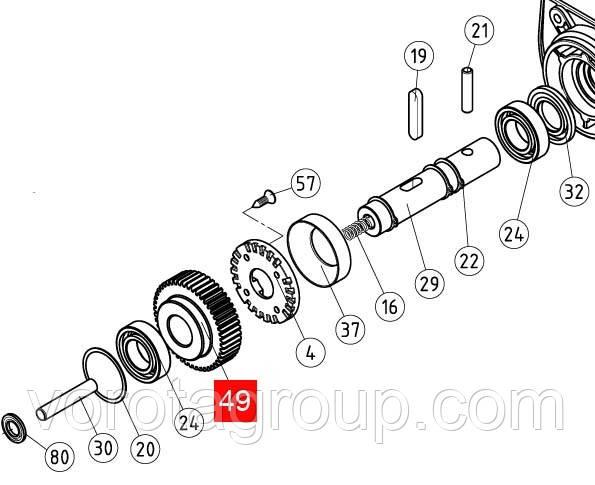 Шестерня редуктора NICE RB350/ROAD400 (PPD1880.4540)