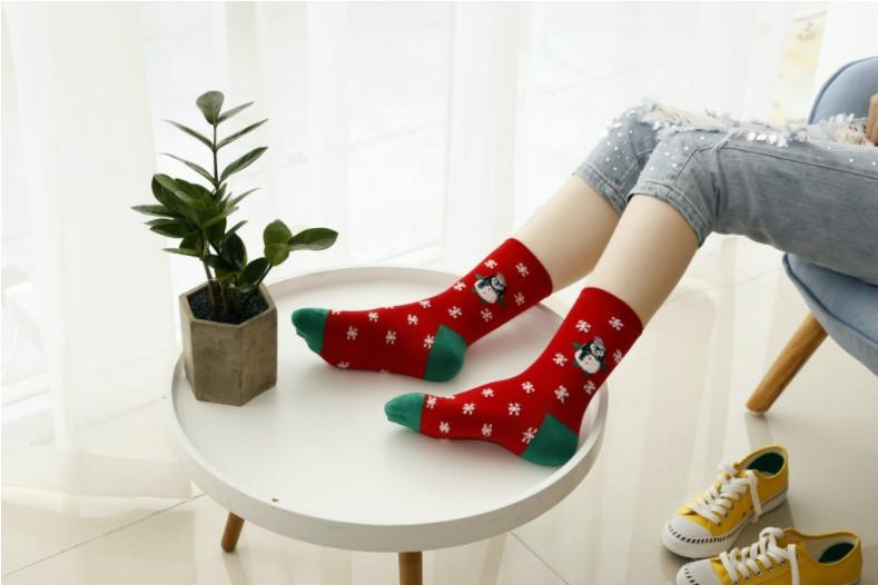 Носки с новогодним рисунком для взрослых и подростков