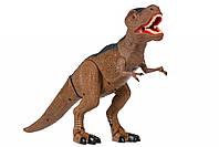 Динозавр Same Toy Dinosaur Planet, коричневый со светом и звуком, Тиранозавр, динозавр на р/у