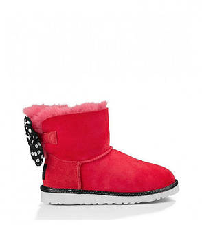 Женские угги UGG Australia Mini Disney Sweetie Bow Red (Реплика AAA+), фото 2