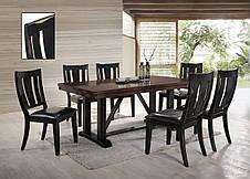 Стул обеденный деревянный Дрезден Sof, цвет черный матовый, фото 3