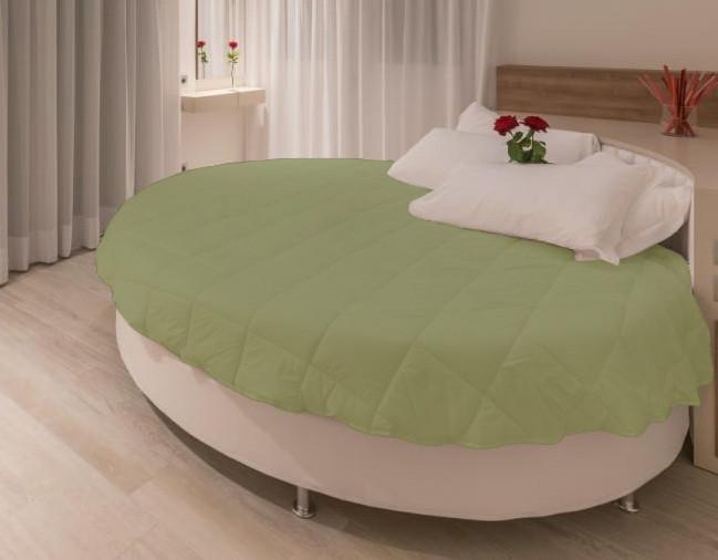 Покрывало на круглую кровать модель 1 Олива