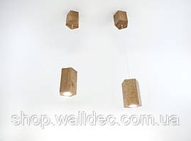 Светильник деревянный подвесной Hexon 3