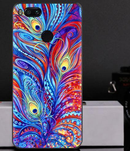 Чехол с картинкой (силикон) для Xiaomi Mi A1 / Mi 5x Перья