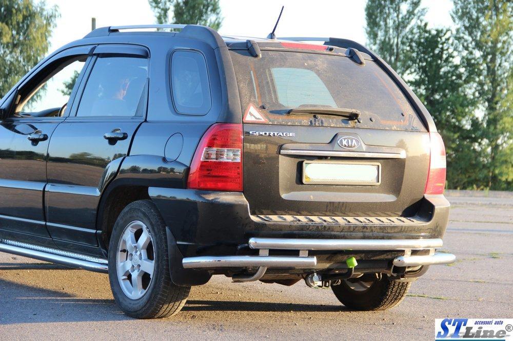 Нержавеющая дуга (задняя) к авто Kia Sportage 2004-2010 гг.