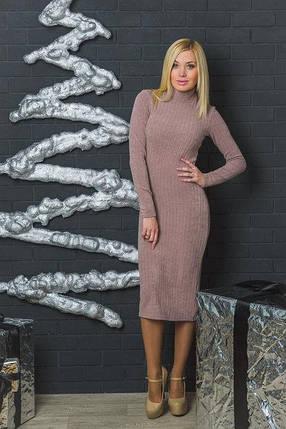 Шерстяное платье футляр пудра, фото 2