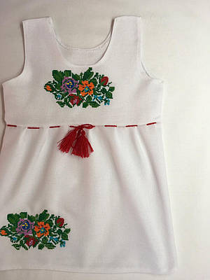 Сукня сарафан вишита на домотканому полотні 1-2 роки  продажа 30a1c2914aa1f