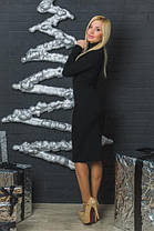 Шерстяное платье футляр черное, фото 2