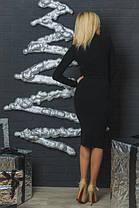 Шерстяное платье футляр черное, фото 3