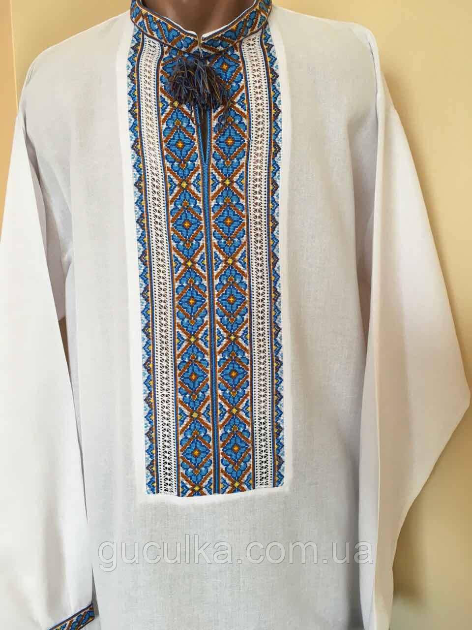 Біла вишита сорочка чоловіча 58 розмір  продажа edb9ea0aa688f