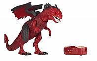 Динозавр Same Toy Dinosaur Planet Дракон красный со светом и звуком, радиоуправляемый динозавр