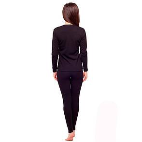Комплект женского термобелья черного цвета 93-2608 (6), фото 2
