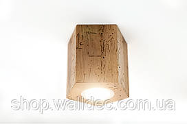 Светильник деревянный потолочный Hexon 3