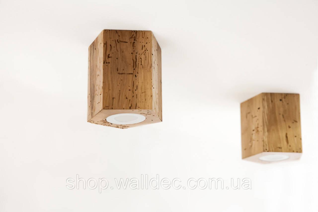 Светильник деревянный потолочный Hexon 6