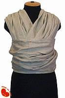 Слинг-шарф из льна 4,7м. Некрашеный лен.