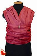 Слинг-шарф из льна 5,2м. Кирпичный лен.