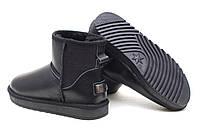 Черные короткие кожаные угги  ITIS унисекс, фото 1