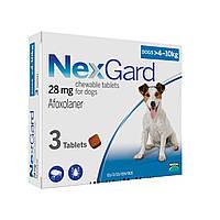 NexGard (НексгарД) S (4-10кг) - таблетки от блох и клещей в виде жевательных таблеток для собак