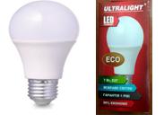 Светодиодная лампа Ultralight A60-7W-Y E27 Eco 3000К    , фото 2