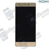 Дисплей (модуль экран + тачскрин) Nomi i506 Shine Gold
