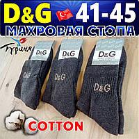 Носки мужские махровая стопа D&G  турецкие ассорти 41-45р. НМЗ-0404278