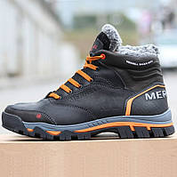Мужские кроссовки-ботинки Merrell черные (зимние)